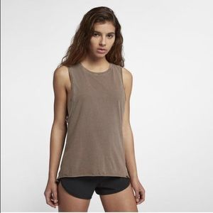 Hurley washed biker tank top XS